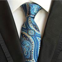 Wholesale Men Stripe Neck Ties - 185 Style Handmade Men Ties Silk Paisley Tie Wedding Prom Party Neck Ties Business Formal Ties Fashion Stripes Plaids Dots Neckties A129