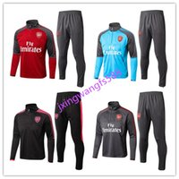 Wholesale Breathable Waterproof Jacket - thai quality 2017 2018 OZIL Football jacket soccer tracksuit 17 18 Alexis Maillot de foot RAMSEY GIROUD LACAZETTE Training suit free shippin