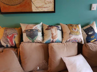 Wholesale Spring Pillows - Superhero Cushion Cover-Chinese Style Cotton Throw Pillow Case- Spring Color Pillowcase - Flag Cushion cover- Wild animal