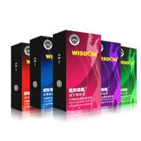 Wholesale Wholesale Pleasure Products - 100pcs lot 5 Styles Wisdom Brand Utra Thin Condoms Sex Safe Male Products Pleasure Condomes Exciter Latex Condom