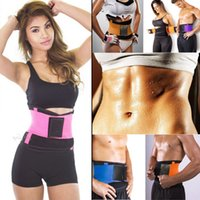 Wholesale Waist Trimmer Belt For Women - Hot Newest Women Men Adjustable Waist Trainer Trimmer Belt Fitness Body Shaper For An Hourglass Shaper(Color Black Pink Green Blue)