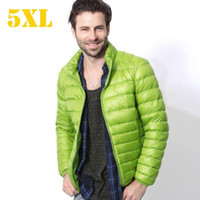 Wholesale Orange Pans - 2016 Design Autumn Winter Men Down Jacket Casual Coat Fashion Waterproof Plus Size Jacket Men 90% White duck down free shipping good quality
