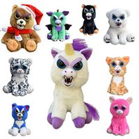 Wholesale Feisty Pets Glenda Glitterpoop Unicorn Sammy Suckerpunch Adorable Plush Stuffed Dog That Turns Feisty With A Squeeze Vicky Vicious bear