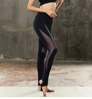 Wholesale sex yoga pants online - Women Yoga Pants Leggins Sport Mesh Patchwork Fitness Trousers Yoga Leggings Gym Sportswear Running Tights Athletic Pants Sex Yoga Pants