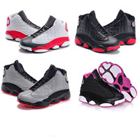 Wholesale Toddlers Boy Shoes Cheap - cheap Kids Air Retro 13 Shoes Children Basketball Shoes for Boys Girls Retro 13s Black Sports Shoe Toddlers Athletic Shoes Birthday Gift