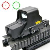 el alcance del rifle monta los carriles al por mayor-Vista holográfica 551 Red Green Dot Sight Rifle Scope con rieles de 20 mm para Airsoft Rifle Huning