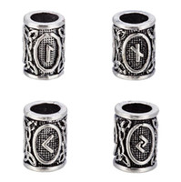 Wholesale Czech Christmas - Runes Viking Beads Laguz Ingwaz Dagaz Othala for Making Small Floating Czech Fit Pandora Charms for Bracelets DIY Beads for Beard or Hair