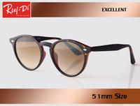 Wholesale Circle Protection - wholesale new top quality Luxury rlei di Round Sunglasses Women Brand Designer gradient vintage circle gafas uv400 protection glass len
