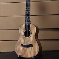 Wholesale Concert Ukelele - Wholesale- Concert Ukulele 23 Inch Hawaiian Guitar 4 Strings Ukelele Guitarra Handcraft Zebra Wood Musical Instruments Uke