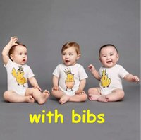 Wholesale Organic Bibs - Rooster Baby Romper with Bibs 2017 Summer Ins Jumpsuits Romper Bodycon Jumpsuit Baby Onesies Girl Jumpsuit Toddler Infant Outwear Bodysuit