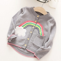 Wholesale Boys Sweater Kids Clothing Autumn Embroidery Cartoon Long Sleeve Pullover Korean Fashion Knitting Kids Sweater HX
