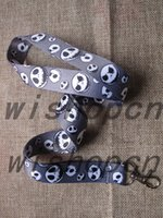 Wholesale Stainless Steel Neck Chains - Free Shipping Wholesale 10 pcs Nightmare Before Christmas key Chain Neck Strap Keys Camera ID Card Lanyard Mobile Phone Neck Straps D--3