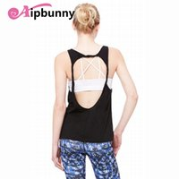 Aipbunny Sexy Backless Women Yoga Gym Спортивный жилет без рукавов Спортивная рубашка Танк Топы Спорт Top Fitness Women Running Clothes