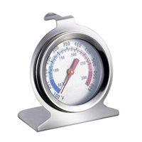termómetro de alimentos gratis al por mayor-Venta al por mayor caliente Stand Up Dial Termómetro Food Meat Temperatura Calibrador Gage Herramientas de cocina Envío gratis