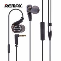 mikrofonfarbe großhandel-Remax RM-S1 Pro In-Ear verdrahteter Sport-Kopfhörer-tragbarer Musik-schnurgebundener Kopfhörer HD-Mikrofon-Kopfhörer-schwarze Farbe