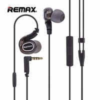 Wholesale Microphone Pro - Remax RM-S1 Pro In-ear Wired Sport Earphone Portable Music Corded Headset HD Microphone Headphones Black Color