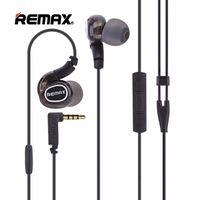 mikrofon rengi toptan satış-Remax RM-S1 Pro Kulak Kablolu Spor Kulaklık Taşınabilir Müzik Kablolu Kulaklık HD Mikrofon Kulaklık Siyah Renk