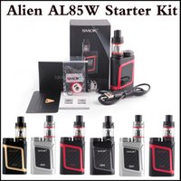 Wholesale 3ml E - Top quality SMOK Alien AL85 Starter Kit AL85 Mini Mod 3ml TFV8 Baby Tank 85Watt TC E Cig Kit 4 colors via DHL