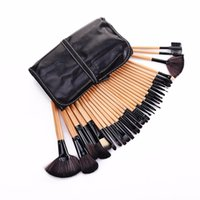 Professionelle 32 PCS Makeup Pinsel Set Make-up Toilettenartikel Wolle Marke Make Up Pinsel Set Fall Log Farbe schwarz rosa 170321