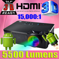 Wholesale daylight projector hdmi for sale - Group buy Android WIFI home theater high brightness Daylight ANSI DLP Projector p full HD D video Proyector beamer for school