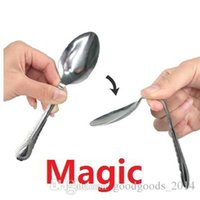 Wholesale Wholesale Kids Close - Magic Tricks with his mind bending a spoon close-up magic children's toys Children Christmas gifts a845