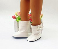 Wholesale White Fashion Long Shoes for American Girl Doll Boots For inch Baby Doll Accessories Kids Toy