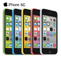 Wholesale Iphone 5c 16gb White - iPhone 5C 4.0 inch Refurbished Phones Apple iPhone5C i5C Original Cellphone Dual Core 3G WCDMA 1GB RAM 16GB 32GB ROM Unlocked Smartphone