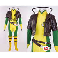 x cosplay homme rogue achat en gros de-X-men X hommes Rogue Cosplay Costume Jacket Jumpsuit anime Custom Made Comics