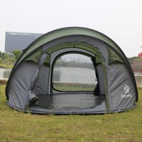 Wholesale Auto Fiberglass - Wholesale- Star Home Foldable Camping Tent Auto Quick Opening 3-4 Person One Bedroom 2000mm Waterproof Tents Camping Familiy For Kids