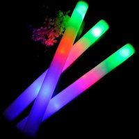Бесплатная доставка Led Colorful Rods Led Foam Stick Flashing Foam Stick Light Cheering Glow Foam Stick