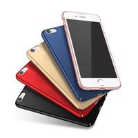 funda negra de oro rosa iphone al por mayor-Funda Slim Hard Matte para iPhone 8 7 6 6S Plus X 5 5S SE Funda de plástico esmerilado Black Rose Gold Navy Blue