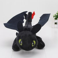 Wholesale Toothless Plush Stuffed Animal - In Stock 9'' 23cm How To Train Your Dragon Mini Plush Toothless Night Fury Toy Stuffed Animals Toys Christmas Gift