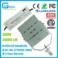 Wholesale Led Garden Light Kits - 200W led canopy light retrofit kit 1000W HPS replacement 480V led parking lot lighting retrofit kit AC200-500V