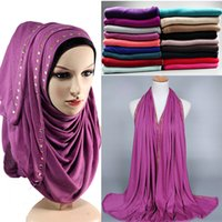 Wholesale Scarf Stoned - Wholesale-21 Colors Cotton jersey bronze stones design scarf scarves hijab shawls wrap stoles hijabs,Pick Colors
