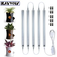 Wholesale Led T5 Bar - RAYWAY LED Grow Light T5 LED Growing lamp full spectrum Greenhouse Garden Plants Grow Rigid Bar Light Tube + Plug Switch cable