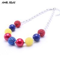 Wholesale chunky princess necklace - MHS.SUN Newest Design Princess Beaded Kid Chunky Necklace Bubblegume Bead Chunky Necklace Jewelry For Kid Girl