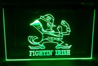 Wholesale Irish Neon Bar Signs - fightin irish Sale beer bar pub LED Neon Light Sign home decor crafts