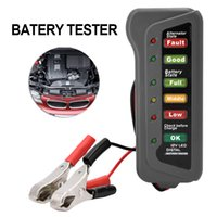 Vente en gros - Universal 12V Car Digital Battery Tester Alternateur Testeur de batterie de moto Détecteur de voiture avec 6 LED Lights Display