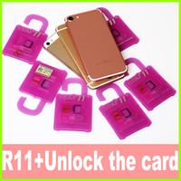 Wholesale Unlocked Iphone 5s Wholesale - R SIM 11+unlock card r sim11+ rsim 11 unlock card for iPhone 5 5s 6 6plus iphone7 iOS 7 8 9 10 ios7-10.x CDMA GSM WCDMA SB SPRINT LTE 4G 3G