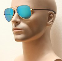 Wholesale Fiber Shops - Drop shipping new TECH carbon fiber legs,large metal double bridge lady 58mm iconic sunglasses,traveling shopping men classsical sunglasses