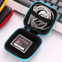 Wholesale Earphone Pouch Carrying Case - Colorful Pu Zipper Bag Earphone Cable Mini Box SD Card Portable Coin Purse Headphone Bag Carrying Pouch Pocket Case Cover Storage