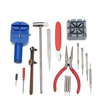 Wholesale Watch Adjusting Remover - Wholesale-Hot Selling 16pc Deluxe Adjust Watch Back Case Spring Bar Remover Opener Tool Kit Repair Fix Pin Link Remover Set Watchmaker