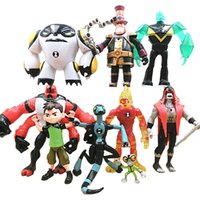 Wholesale Action Plays - Lot Ben 10 Action Figure Play set Toy Cake Topper Wildmutt Grey Matter Hex XLR8 Heatblast Four Arms Cannon Bolt Doll Figurines Gift