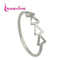 Wholesale Gothic Punk Fashion Accessories - Rock Gothic Jewelry Gold Silver Black Color Distinctive Minimalist Triangle Punk Rings Female Fashion Jewelry Accessories