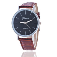 Wholesale Mechanical Couples Watch - Hot hot style Geneva watch young men and women belt couple table watch double-sided hollow-out the mechanical watch students leisure leather