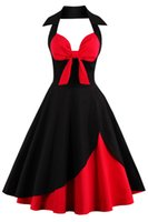 halter dresses NZ - Halter Casual Dresses Audrey Hepburn Style 1950s Vintage Inspired Rockabilly Swing Cocktail Party Dresses for Women Cheap