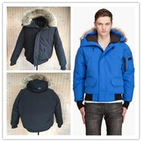 Wholesale Silver Down Coats - 2016 New Men's Goose down jacket Coat Fur Goose Men Chilliwack Parka fur jacket and the size of the coat cotton male hooded casual