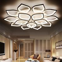ingrosso led luci plafond-Nuove plafoniere moderne moderne a LED in acrilico per soggiorno Plafoniera da letto a LED Illuminazione domestica Lampada da soffitto per atrio da letto