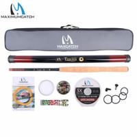 Accessoires De Mouche En Gros Pas Cher-Wholesale- Maximumcatch 12FT Tenkara Fly Rod Accessories Kit complet Fishing Leader Line Flies Carry Case