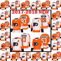 fc9e8b72b 2017-2018 New Philadelphia Flyers 93 Jakub Voracek 28 Claude Giroux Jersey  2018 Men s 17 Wayne Simmonds 53 Shayne Gostisbehere Jerseys ...